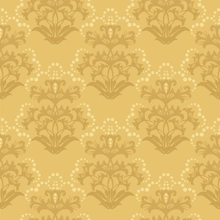Naadloze gouden bloemen wall paper