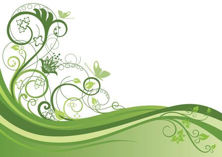 Groene bloem achtergrond