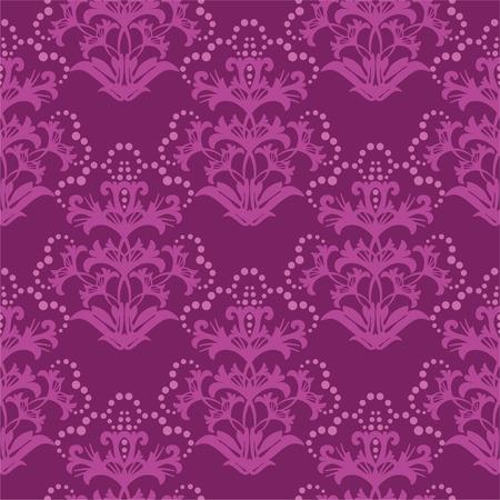 fuchsia: Seamless fuchsia floral wallpaper