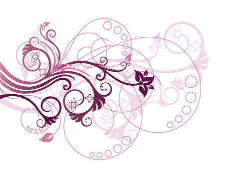 floral vector: Floral design element vector illustration