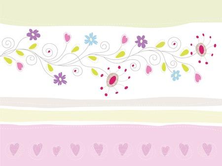 Bloemen wens kaart  Stock Illustratie