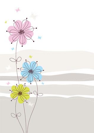 Floral achtergrond licht
