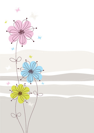 Light Floral Background Illustration