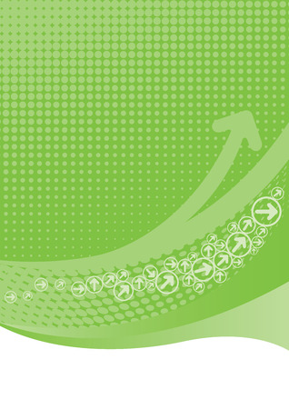 Lime green background with halftone Illustration