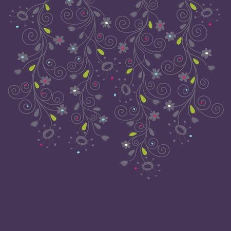 Dark purple floral background Stock Vector - 6167908