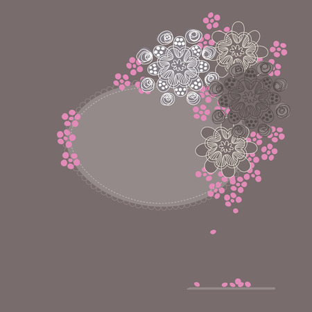 Cherry blossom greeting card Vector