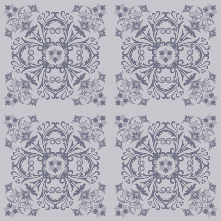 Seamless floral tile pattern Vector