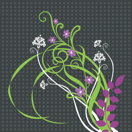 floração: Ornamento floral bonito Ilustração