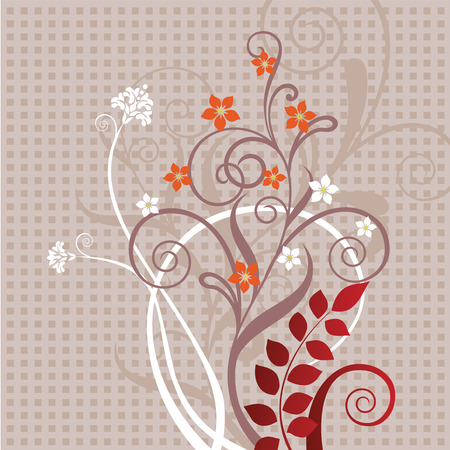 Decorative floral greeting card Stock Vector - 6663599
