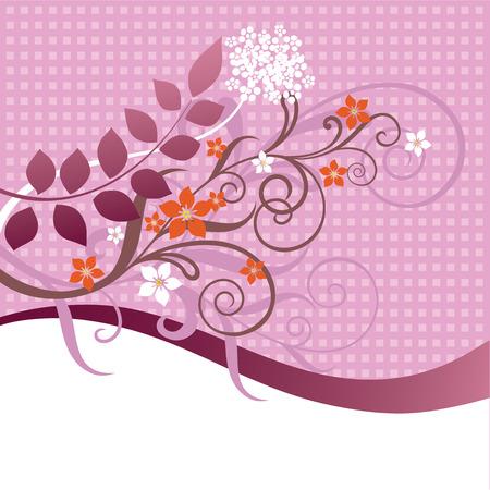 flores fucsia: Ornamentaci�n floral rosa y naranja