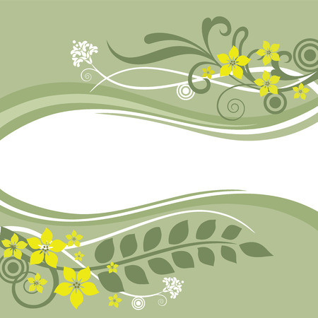 Green and yellow floral borders Stock Vector - 6827377