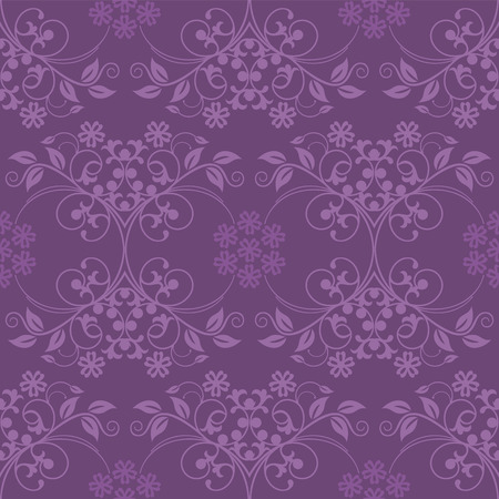 Beautiful seamless purple wallpaper Stock Vector - 6827378