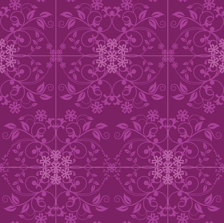 Fuchsia and pink floral wallpaper Vector