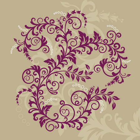 Beautiful red floral ornament