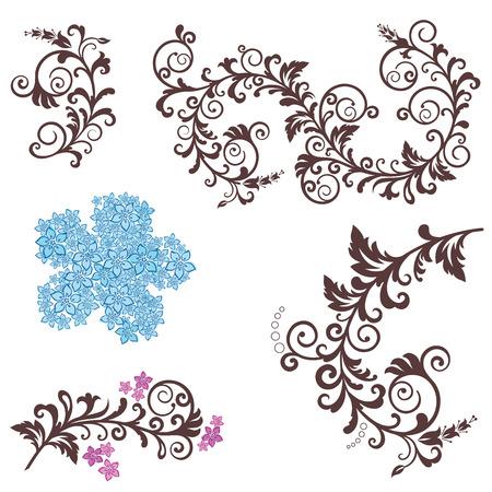 Beautiful floral design elements Stock Vector - 6827382
