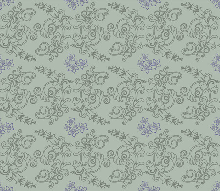 Light green and purple floral wallpaper Stock Vector - 7009694