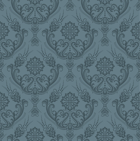 Luxury seamless grey floral wallpaper Vector