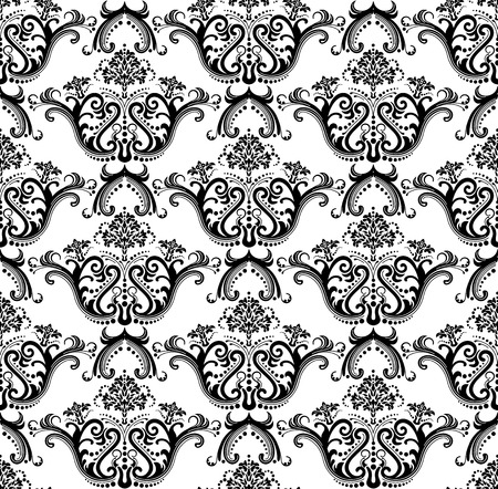 Seamless luxury black & white wallpaper
