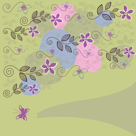 Cute floral background illustration Vector