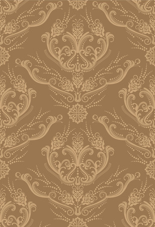 Luxury brown floral wallpaper Stock Vector - 7555913