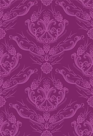 Fuchsia luxe bloemen behang