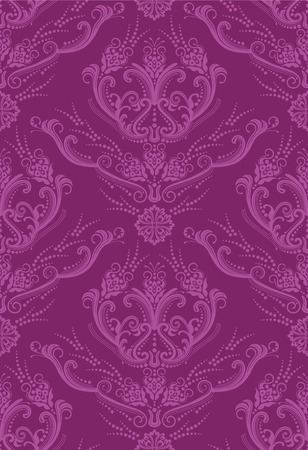 Luxury fuchsia floral wallpaper Stock Vector - 7555912