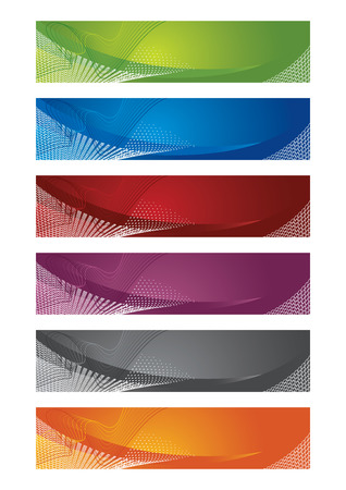 Selection of halftone banners Vector