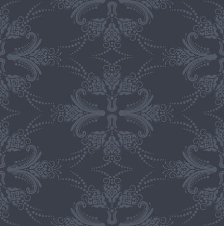 Luxe naadloze grijs bloemen behang