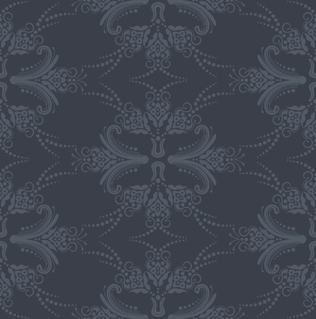 gentle background: Luxury seamless grey floral wallpaper