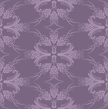 Luxury purple seamless floral wallpaper Vector