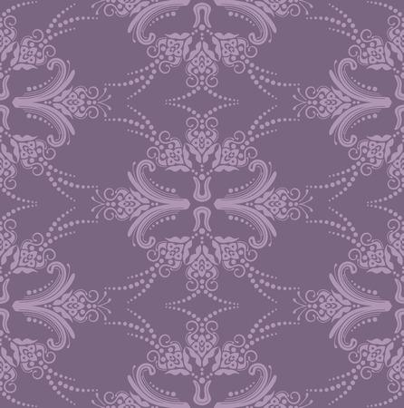 Luxury purple seamless floral wallpaper Vector