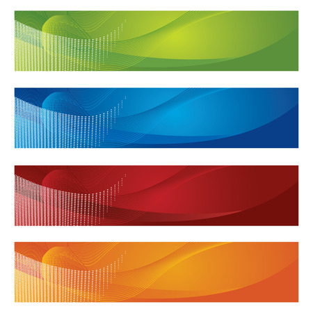 Halftone and gradient banners Stock Vector - 7958029