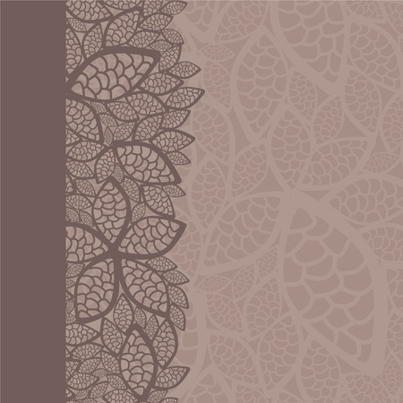 Leaf pattern border and background Stock Vector - 8061735
