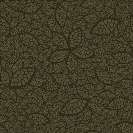 antiek behang: Naadloze groene bladeren wall paper  Stock Illustratie
