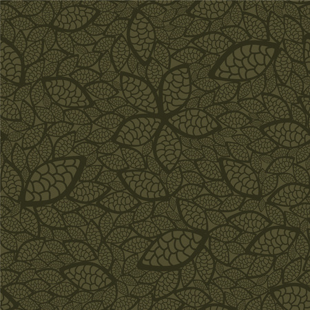 Seamless green leaves wallpaper Vector