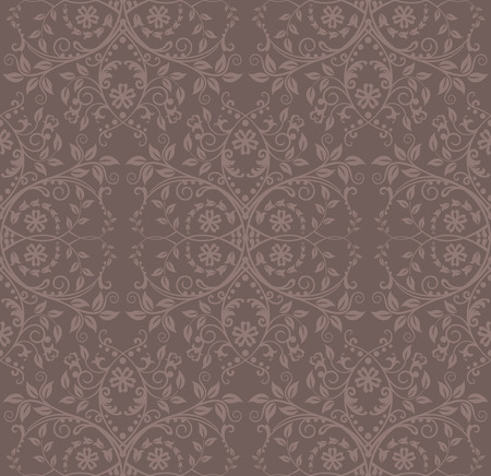 Seamless cocoa floral wallpaper Stock Vector - 8328760