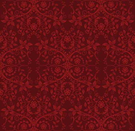 amazing wallpaper: Seamless sfondo floreale rosso