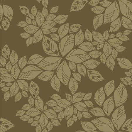 Naadloze groene bladeren patroon Stock Illustratie