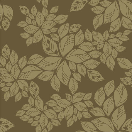 repetitive: Seamless green leaves pattern