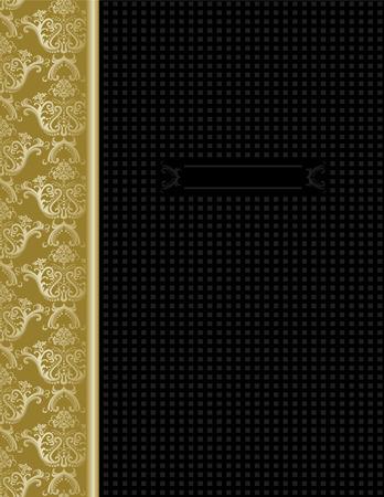 Luxe zwart & goud de omslag voor ontwerpen Stock Illustratie