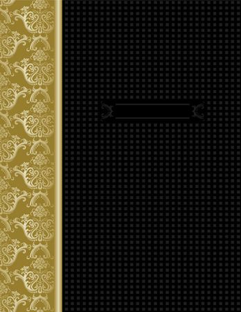 side border: Luxury black & gold cover design