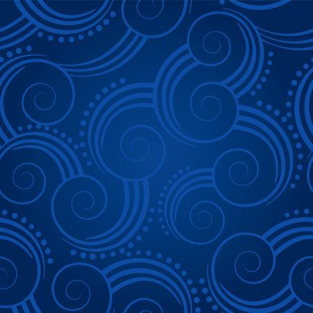 Naadloze blauwe swirls achtergrond