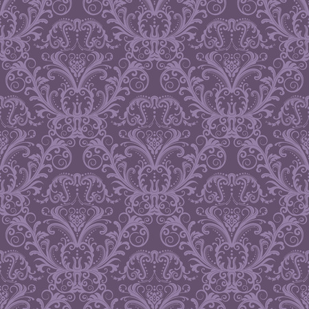 Seamless purple floral wallpaper Vector