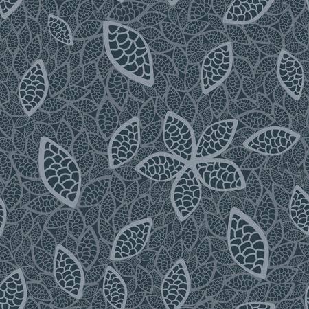 Naadloze grijs blad behang