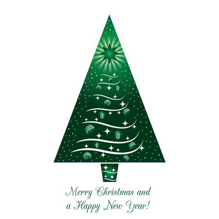 Groene kerstboom Kaart van de Groet