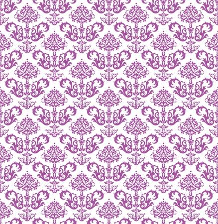 amazing wallpaper: Seamless carta da parati floreale rosa su bianco