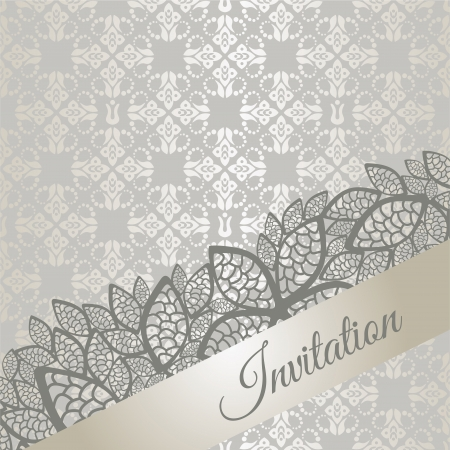 Silver special occasion invitation card Vector