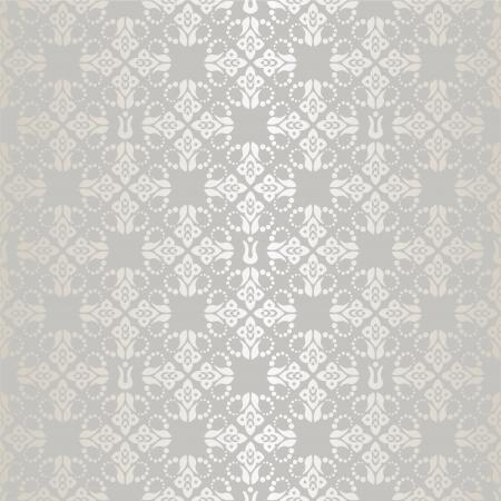 Naadloze zilver kleine florale elementen behang patroon