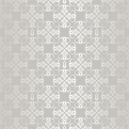 Seamless silver small floral elements wallpaper pattern Vector