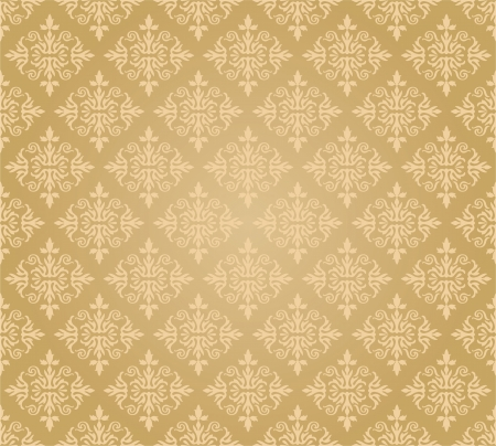 Seamless golden floral wallpaper diamond pattern Stock Vector - 18656150